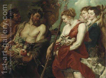 Diana returning from the Hunt by (after) Sir Peter Paul Rubens And Frans Snijders - Reproduction Oil Painting