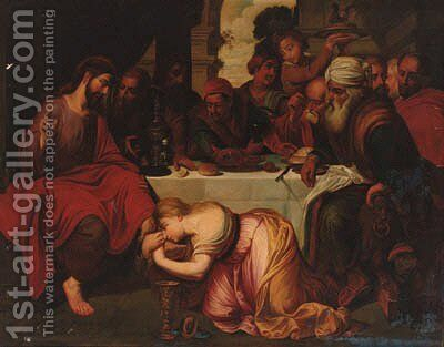 Christ in the House of Simon the Pharisee by (after) Sir Peter Paul Rubens - Reproduction Oil Painting