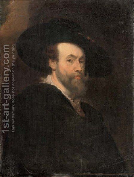 Self-Portrait of the artist 3 by (after) Sir Peter Paul Rubens - Reproduction Oil Painting