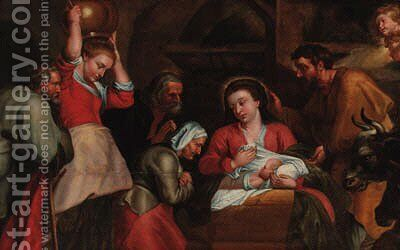 The Adoration of the Shepherds by (after) Sir Peter Paul Rubens - Reproduction Oil Painting