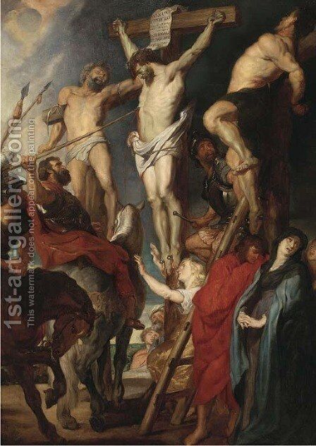 The Crucifixion by (after) Sir Peter Paul Rubens - Reproduction Oil Painting