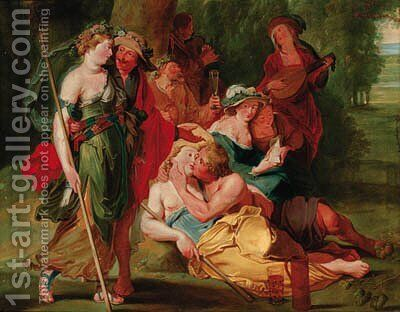 The Garden of Love by (after) Sir Peter Paul Rubens - Reproduction Oil Painting