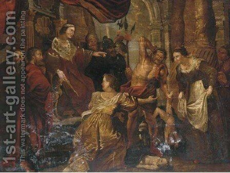 The Judgement of Solomon 2 by (after) Sir Peter Paul Rubens - Reproduction Oil Painting