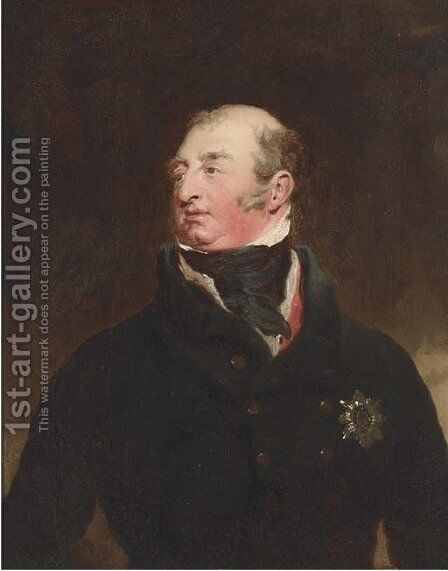 Portrait of Frederick, Duke of York and Albany (1763-1827), bust-length, in a black jacket, wearing the Order of the Garter by Sir Thomas Lawrence - Reproduction Oil Painting