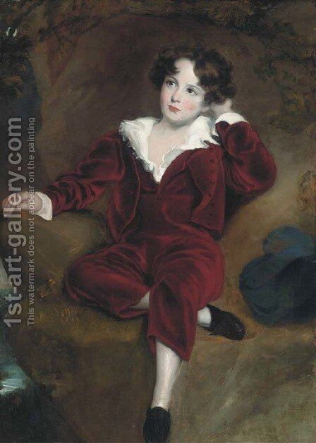 Master Lambton 'The red boy' by (after) Lawrence, Sir Thomas - Reproduction Oil Painting