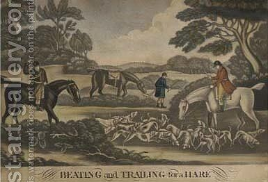 Beating and trailing for the hare by (after) W. B. Walker - Reproduction Oil Painting