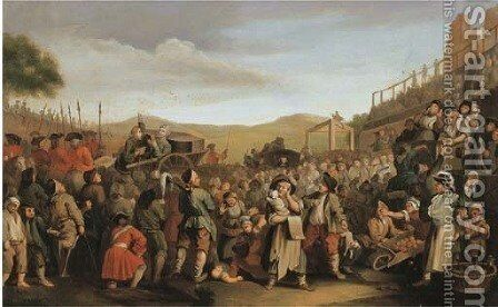 The Execution of Thom Idle at Tyburn by (after) William Hogarth - Reproduction Oil Painting