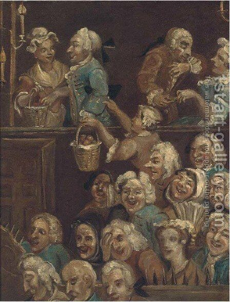 The laughing audience by (after) William Hogarth - Reproduction Oil Painting