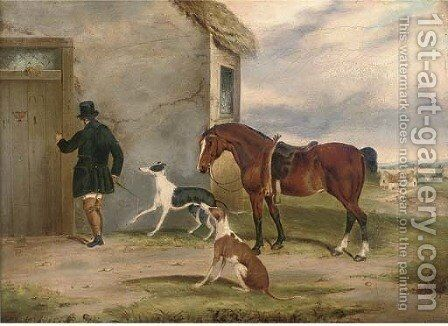 Returning from the course by (after) William Joseph Shayer - Reproduction Oil Painting