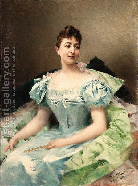 Portrait of a woman by Aimé-Nicolas Morot - Reproduction Oil Painting