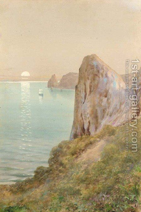Sunset over the Crimea by Albert Nikolaivich Benua - Reproduction Oil Painting