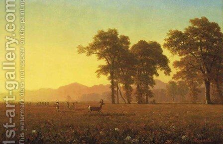 Autumn by Albert Bierstadt - Reproduction Oil Painting