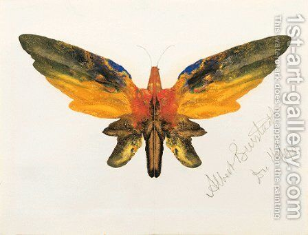 Butterfly 2 by Albert Bierstadt - Reproduction Oil Painting