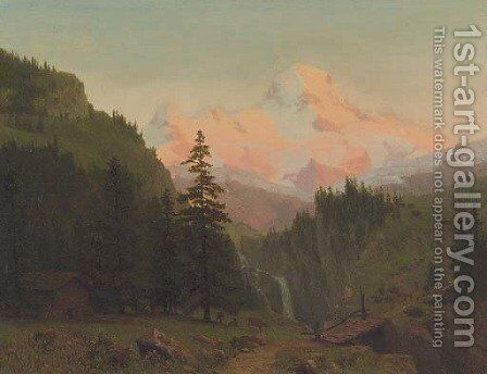 Landscape 2 by Albert Bierstadt - Reproduction Oil Painting