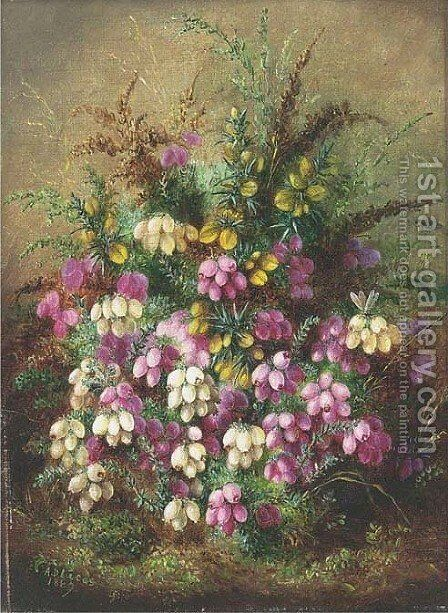 Wild flowers by Albert Durer Lucas - Reproduction Oil Painting