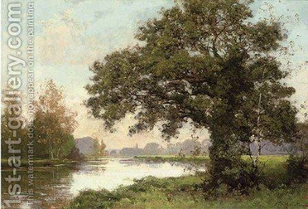 River landscape by Albert Gabriel Rigolot - Reproduction Oil Painting