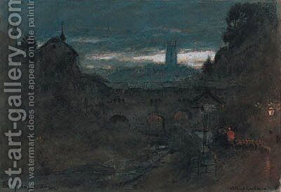 Frybourg, Suisse by Albert Goodwin - Reproduction Oil Painting