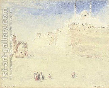 Below the Citadel, Cairo, Egypt by Albert Goodwin - Reproduction Oil Painting