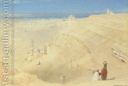 Cairo from the Mokattam Hills, Egypt by Albert Goodwin - Reproduction Oil Painting