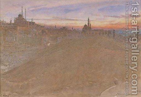 Cairo, Egypt 2 by Albert Goodwin - Reproduction Oil Painting