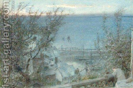 Clovelly, Devon by Albert Goodwin - Reproduction Oil Painting