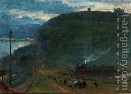 Dover at night by Albert Goodwin - Reproduction Oil Painting