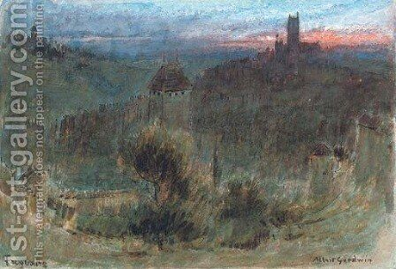 Freyburg, Germany by Albert Goodwin - Reproduction Oil Painting