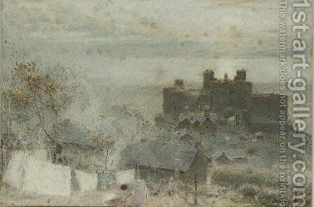Harlech by Albert Goodwin - Reproduction Oil Painting