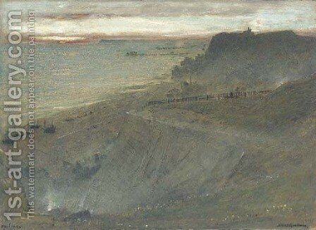 Hastings from East Hill, West Sussex by Albert Goodwin - Reproduction Oil Painting