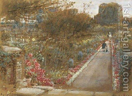 Hurstmonceux, East Sussex by Albert Goodwin - Reproduction Oil Painting