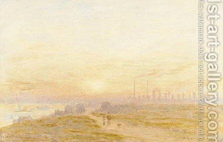 Middlesborough by Albert Goodwin - Reproduction Oil Painting