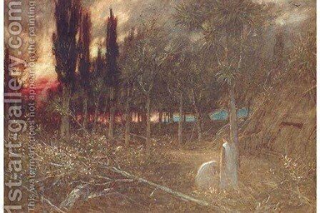 Night-Faithful unto Death by Albert Goodwin - Reproduction Oil Painting