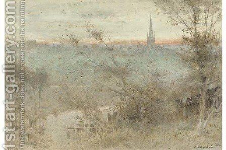 Norwich by Albert Goodwin - Reproduction Oil Painting