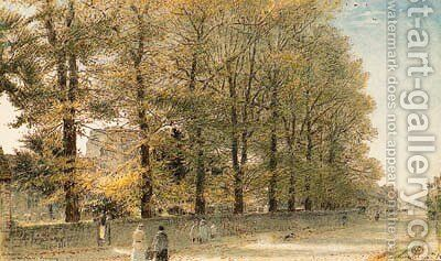 October at Westham, Pevensey, Kent by Albert Goodwin - Reproduction Oil Painting
