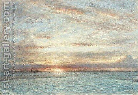 Sunset in the Venetian lagoons by Albert Goodwin - Reproduction Oil Painting