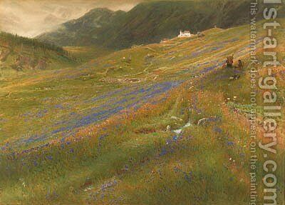 The Alpine Summer by Albert Goodwin - Reproduction Oil Painting