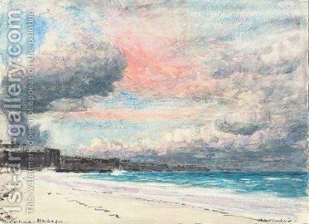 The Coral Beach, Barbados by Albert Goodwin - Reproduction Oil Painting