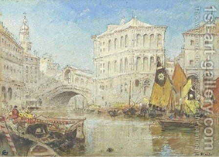 The Rialto, Venice by Albert Goodwin - Reproduction Oil Painting
