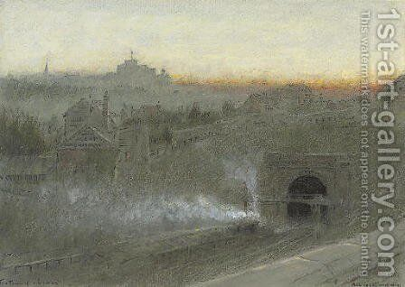 The tunnel, Lewes by Albert Goodwin - Reproduction Oil Painting