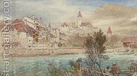Thun by Albert Goodwin - Reproduction Oil Painting