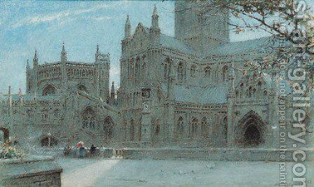Wells Cathedral 2 by Albert Goodwin - Reproduction Oil Painting