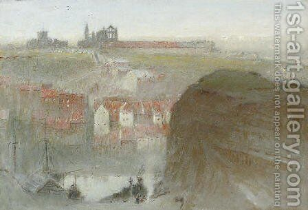 Whitby by Albert Goodwin - Reproduction Oil Painting