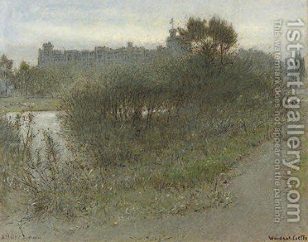 Windsor Castle by Albert Goodwin - Reproduction Oil Painting