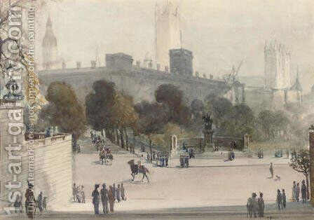 Horse Guards Parade by Albert Henry Fullwood - Reproduction Oil Painting