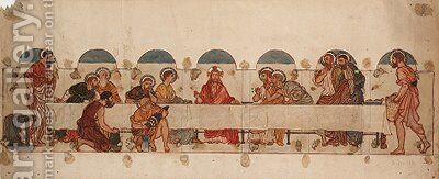 Study for 'The Last Supper' in St Alban's Church, Rochdale by Albert Joseph Moore - Reproduction Oil Painting