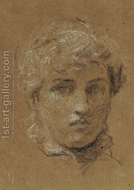 Study of the head of a girl by Albert Joseph Moore - Reproduction Oil Painting