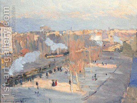 Courbevoie by Albert Lebourg - Reproduction Oil Painting