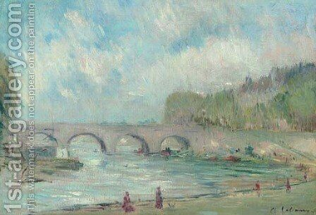 Le pont Marie by Albert Lebourg - Reproduction Oil Painting