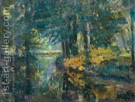 Paysage de riviere by Albert Lebourg - Reproduction Oil Painting