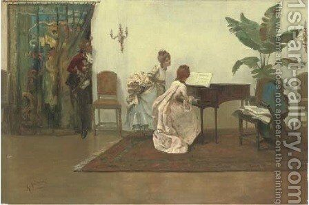 The recital by Albert Ludovici - Reproduction Oil Painting